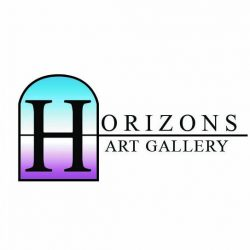 Horizons art gallery black logo