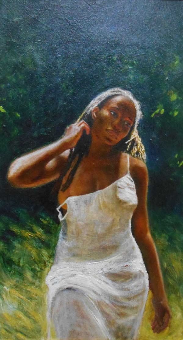 Superville, Martin, woman in white