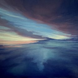 Cloud Surfing, Dusk 18x24