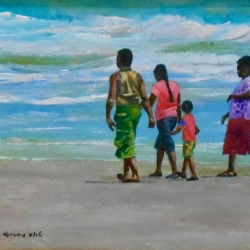 A Family Walk on Mayaro Beach 2200
